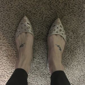 6af8de881938 Badgley Mischka Shoes - Badgley Mischka Gigi Crystal Pointy Toe Flats
